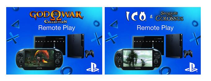 "PS Vita มีฟังก์ชัน ""Remote Play"" ที่ไว้ใช้เล่นเกมบนเครื่อง PS3 ผ่านระบบ Wi-fi มานานตั้งแต่เปิดตัว แต่เกมที่ยังรองรับยังมีไม่มากนัก ตอนนี้ทาง Sony PlayStation ได้ปล่อย patch update ของเกม God of War Collection ,Ico และ Shadow of the Colossus Collection ให้สามารถใช้ฟังก์ชัน […]"